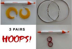Jewelry - Three (3) Pairs of Earrings